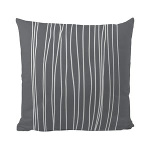 Vankúš Black Shake White Stripes in Grey, 50 x 50 cm