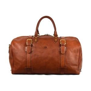 Kožená taška Santo Croce 82939 Brown