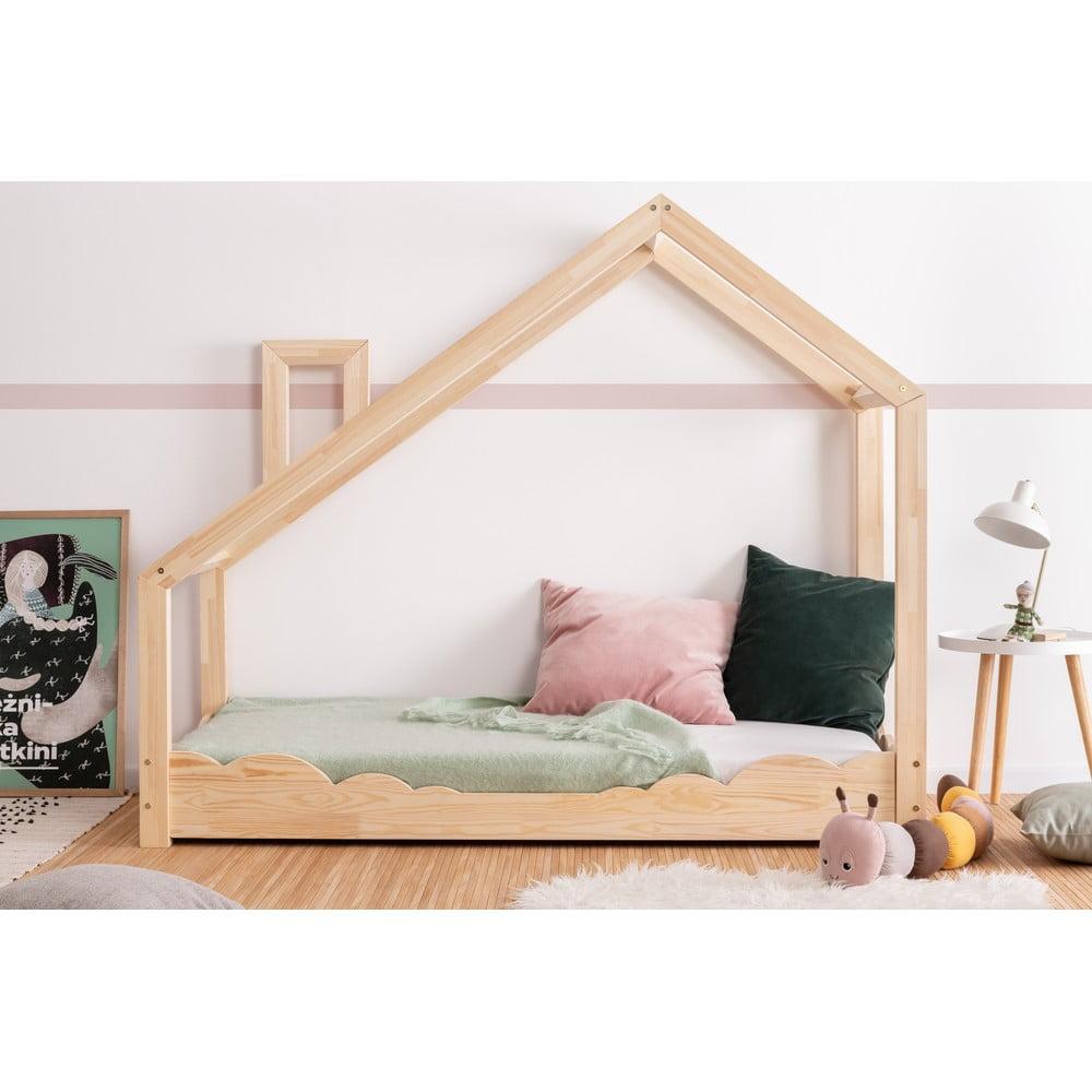 Domčeková posteľ z borovicového dreva Adeko Luna Drom, 70 x 180 cm