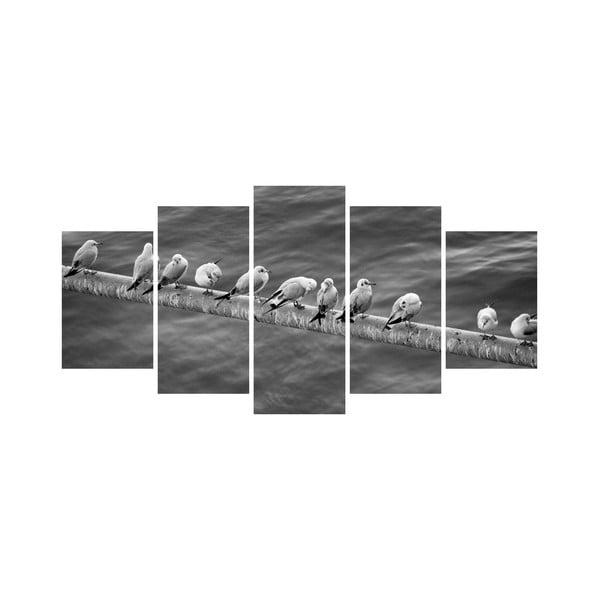 Viacdielny obraz Black&White no. 15, 100x50 cm