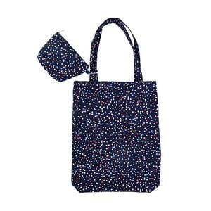 Tmavomodrá nákupná taška Busy B Spots Shopper
