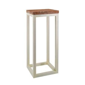 Odkladací stolík z teakového dreva a železa Moycor, ø 30 x 75 cm