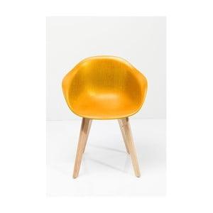 Sada 4 žlutých stoličiek Kare Design Forum