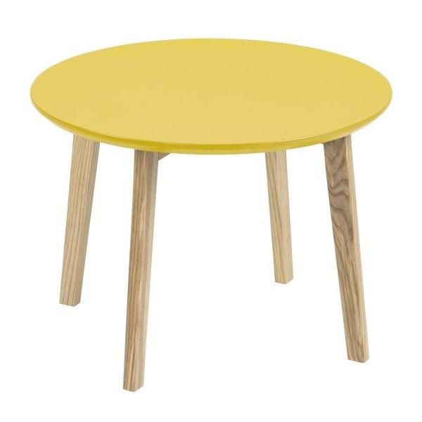 Žltý odkladací stolík Actona Molina, ⌀50cm
