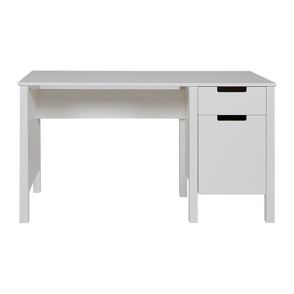 Biely pracovný stôl WOOOD Jade