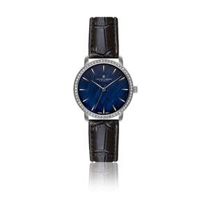 Dámske hodinky s čiernym remienkom z pravej kože Frederic Graff Monte Leone