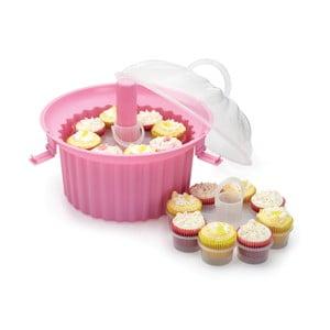 Trojposchodový prenosný box na cupcakes Kitchen Craft Sweetly Does It