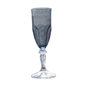 Sada 6 sivých plastových pohárov na sekt Sunvibes Happy, 120 ml