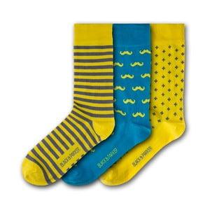 Sada 3 párov ponožiek Black&Parker London Caerhays, veľkosť 37 – 43