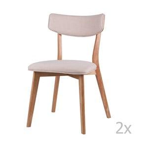Sada 2 jedálenských stoličiek so svetlohnedým podnožím sømcasa Anais