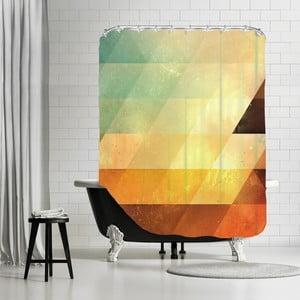 Kúpeľňový záves Yellow Triangle, 180x180 cm