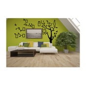 Dekoratívna samolepka Čierny strom vpravo s fotorámikmi, 180x250 cm