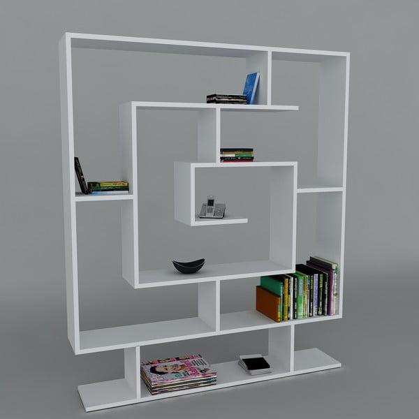 Knižnica Samasik White, 22x124,8x149,4 cm