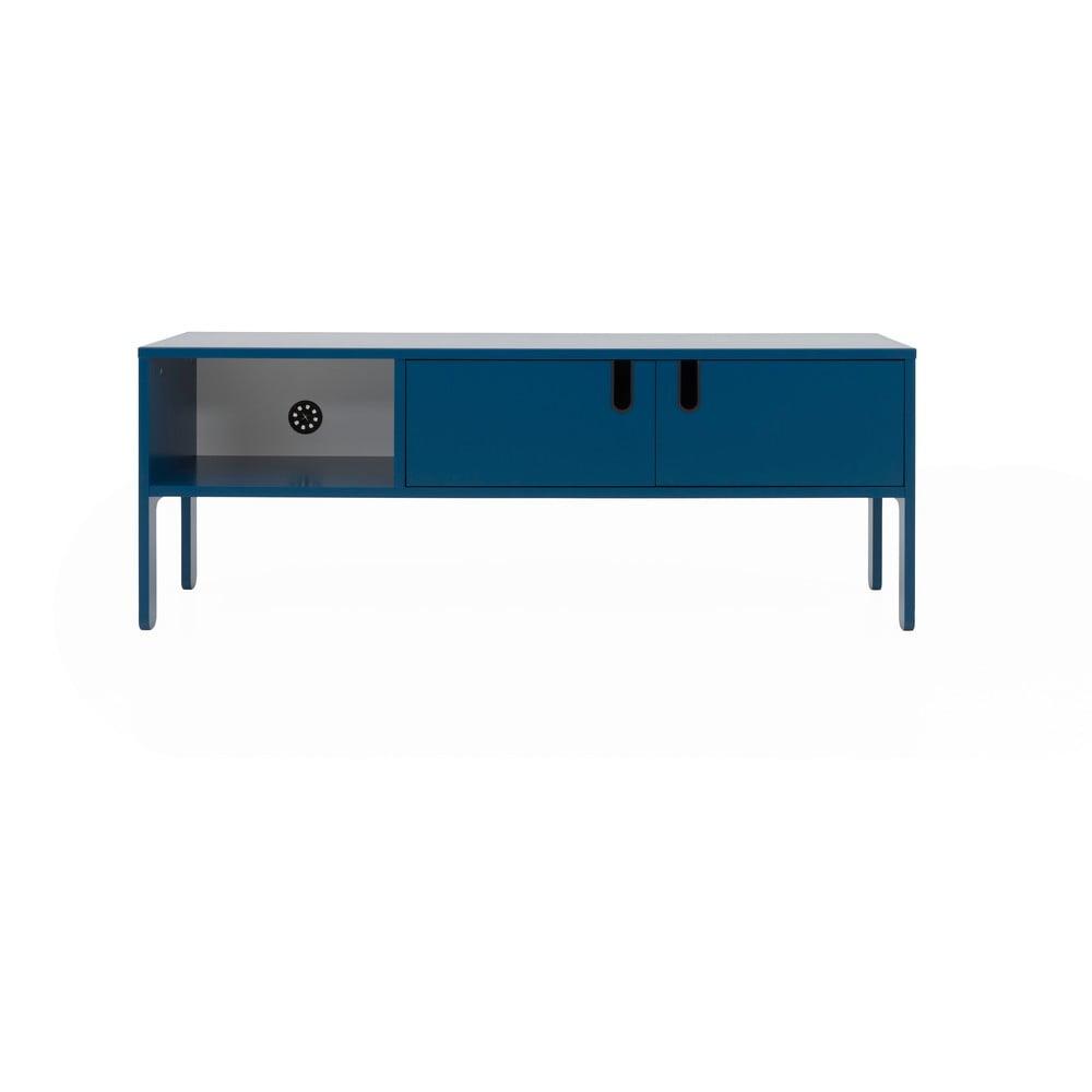 Petrolejovomodrý TV stolík Tenzo Uno, šírka 137 cm