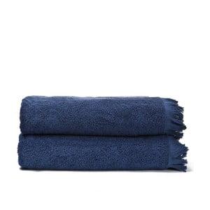 Sada 2 modrých bavlnených osušiek CasaDiBassi Bath, 100x160cm