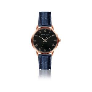 Pánske hodinky s modrým remienkom z pravej kože Walter Bach Union