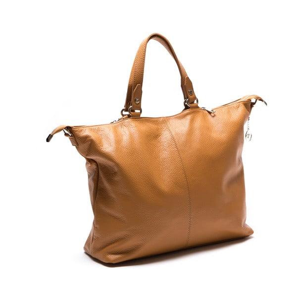 Kožená kabelka Fiora, koňak