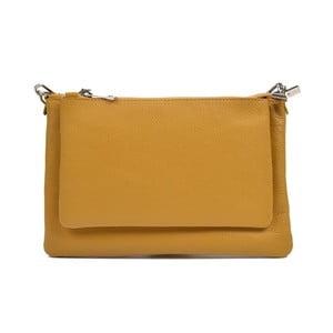 Žltá kožená kabelka Anna Luchini Minsie