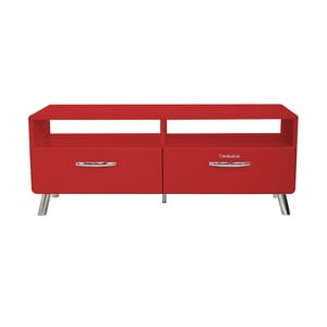Červený TV stolík Tenzo Cobra, šírka 118 cm