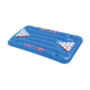 Modrý nafukovací matrac na beer pong Big Mouth Inc.