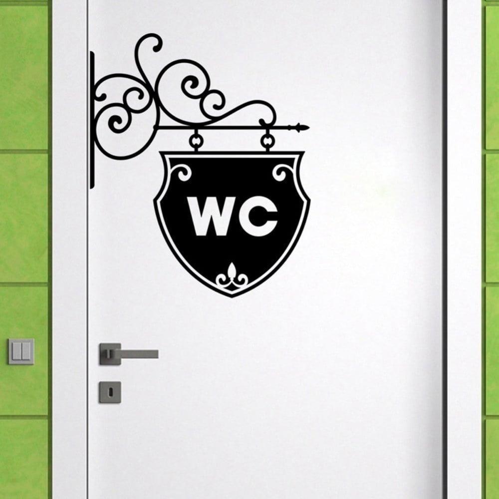 Dekoratívna nálepka na stenu WC Arrow