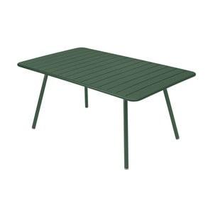 Zelený kovový jedálenský stôl Fermob Luxembourg