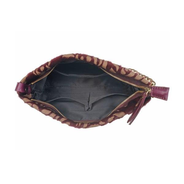 Kožená menšia kabelka Moon Fan Bordo