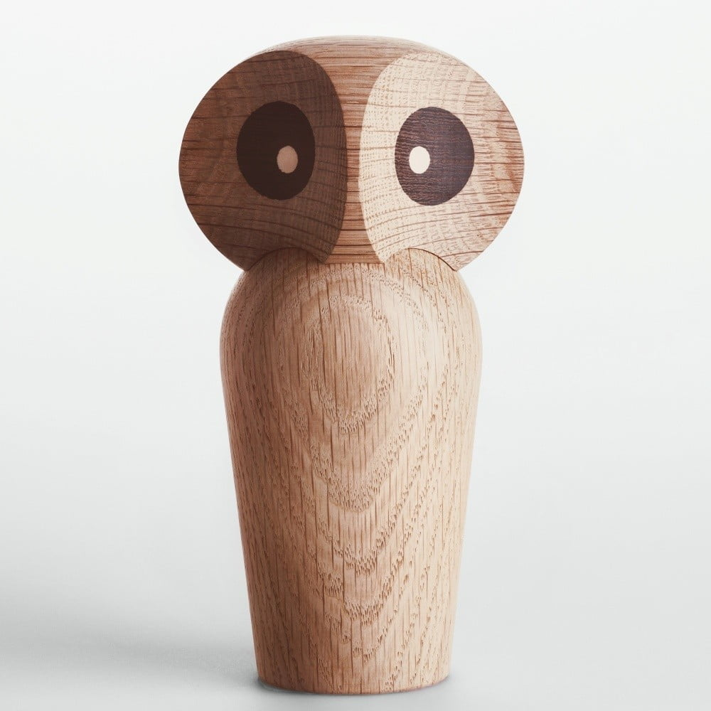 Svetlá dekorácia z dubového dreva v tvare sovy Architectmade Owl ... 2b7980ed4ee