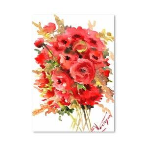 Plagát Red Ranunculus od Suren Nersisyan
