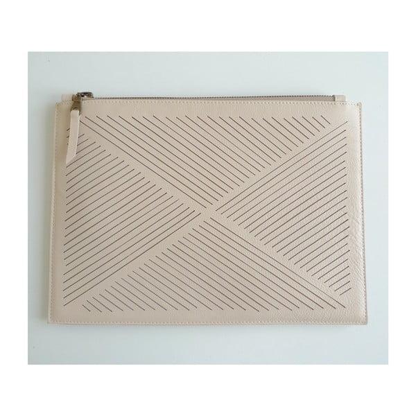 Taška cez rameno/listová kabelka Cut Out, krémová