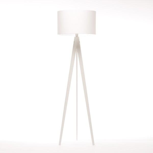 Stojacia lampa Artist White Felt/White Birch, 125x42 cm