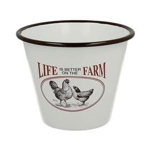 Smaltovaný kvetináč Duo Gift Farm Life