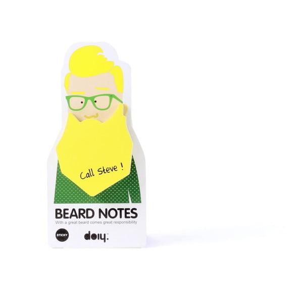 Sada 3 lepiacich bločkov Beard Notes