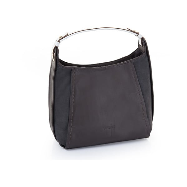 Kožená kabelka Valentini 321, tmavomodrá