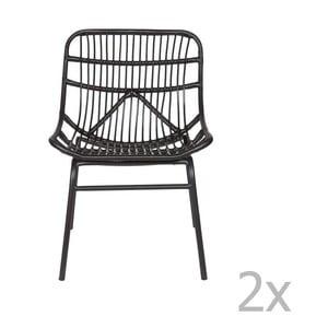 Sada 2 čiernych stoličiek De Eekhoorn Chat