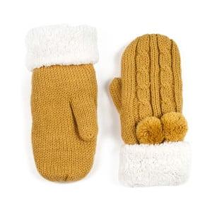Horčicovožlté dámske rukavice Art of Polo