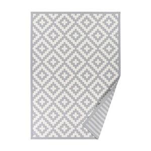 Sivý vzorovaný obojstranný koberec Narma Viki, 70 × 140 cm