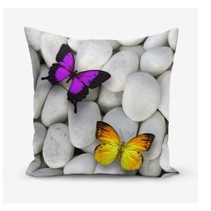 Obliečka na vankúš s prímesou bavlny Minimalist Cushion Covers Double Butterfly, 45×45 cm