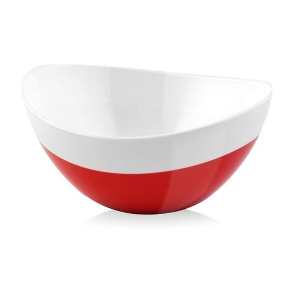 Červeno-biela miska Livio Duo, 28 cm