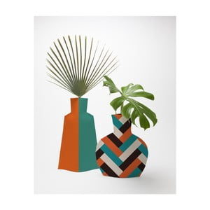 Sada 2 textilných váz na kvety Really Nice Things Orange Block