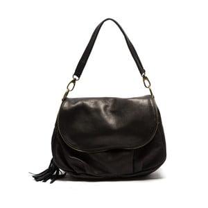 Čierna kožená kabelka Sofia Cardoni Cristina