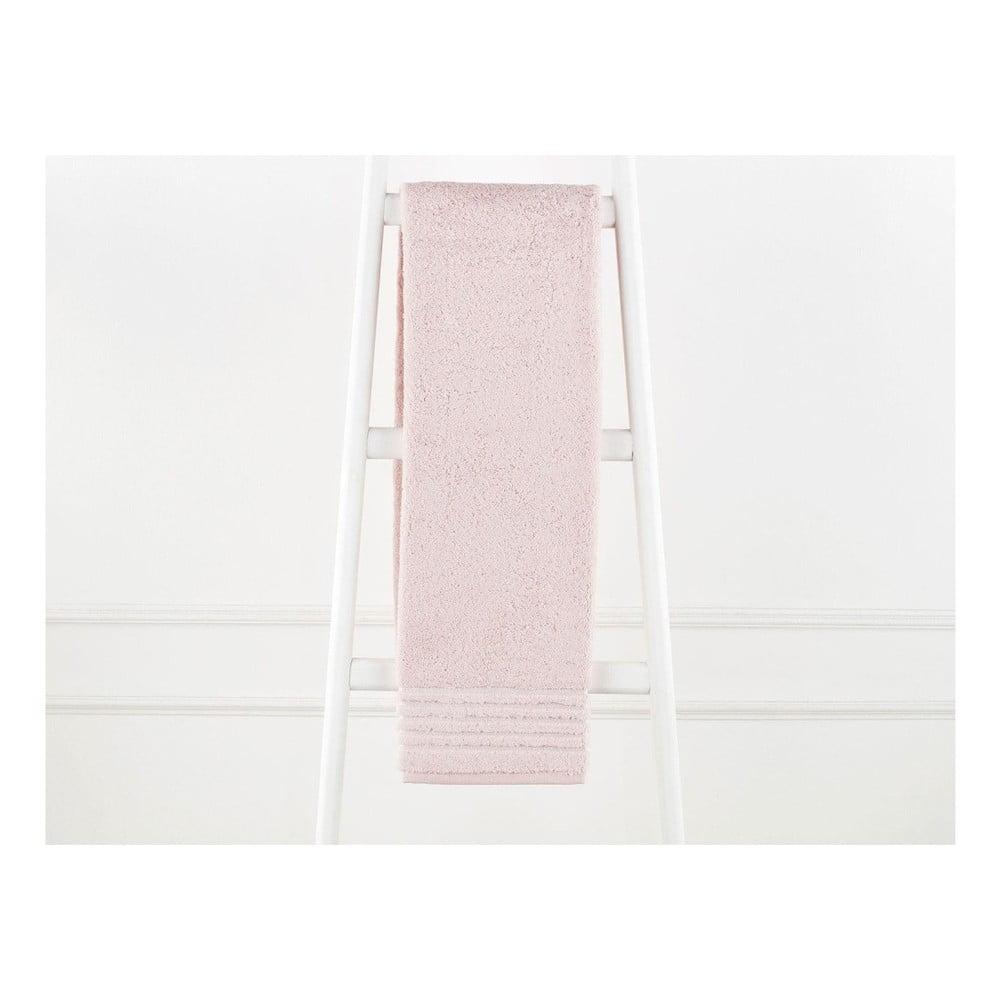 Púdrovoružový bavlnený uterák Elois, 70×140 cm