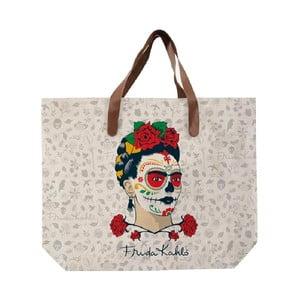 Plátená taška Madre Selva Frida Skull, 55 x 40 cm