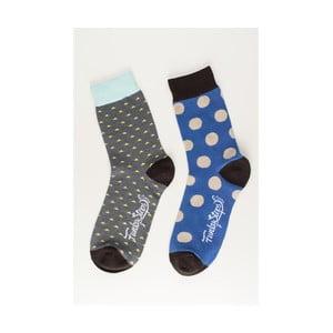 Sada 2 párov unisex ponožiek Funky Steps Waltz, veľkosť 39/45