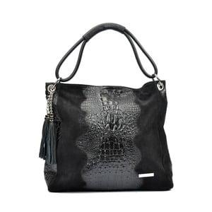 Čierna kožená kabelka Luisa Vannini Murinio