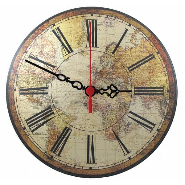 Nástenné hodiny World Map, 30 cm