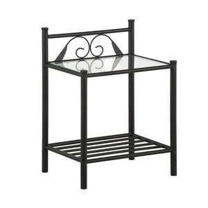 Čierny nočný stolík Støraa Bibi