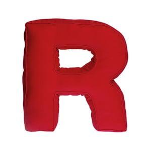 Látkový vankúš R, červený