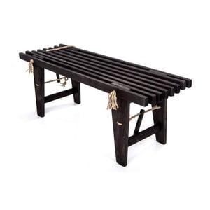 Čierna lavička z borovicového dreva EcoFurn