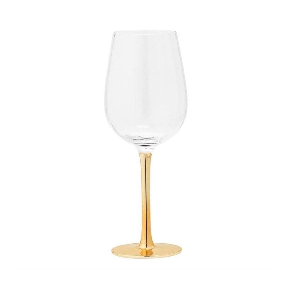 Pohár na víno Bloomingville Clear Gold